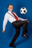 Business with soccer ball (football) Royalty Free Stock Photos