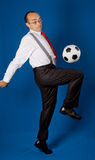 Business with soccer ball (football) Stock Photo