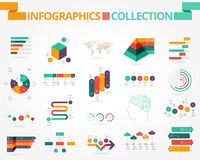 Business and social infographics Royalty Free Stock Images