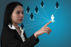 Business social network Stock Images
