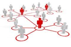 Business or social network. Concept. Stock Photos