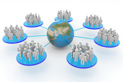 Business or social network. Concept. Royalty Free Stock Image