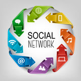Business social network concept. Royalty Free Stock Photos