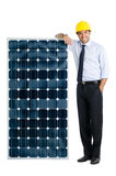 Business with solar energy royalty free stock photography