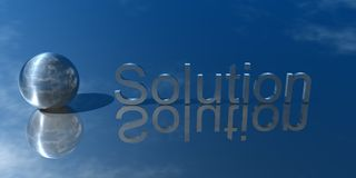 Business Solution. 3d Presentation Business, Logo and Symbol Royalty Free Stock Photo
