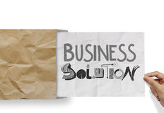 BUSINESS SOLUTION as concept Stock Images