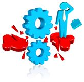 Business Solution Cogs. Three dimension style and high quality image Stock Photo