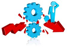 Business Solution Cogs. Three dimension style and high quality image Stock Photography