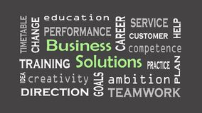 Business Solution concept on black background. Business concept royalty free stock image