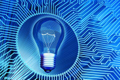 Business solution, creative idea, computer science and electrical technology concept Royalty Free Stock Photography