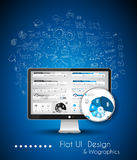 Business Solution and Idea Conceptual background with a desktop pc Royalty Free Stock Photos