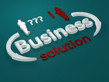 Business - solution - letters Royalty Free Stock Images