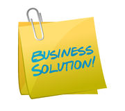 Business solution post illustration design Stock Photo