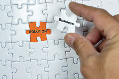 Business Solution Puzzle Royalty Free Stock Image