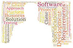 Business solution software Stock Photography