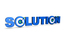 Business Solution Target Concept Stock Image