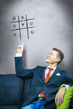 Business solution tic-tac-toe Royalty Free Stock Photo