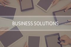 BUSINESS SOLUTIONS CONCEPT Business Concept. Royalty Free Stock Photography