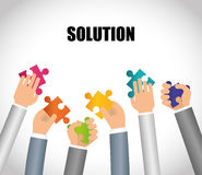 Business solutions design. Royalty Free Stock Photos
