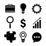 Business solutions. Graphic design, vector illustration eps10 Royalty Free Stock Image