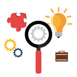 Business solutions with icons Royalty Free Stock Image