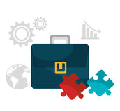 Business solutions icons. Graphic design,  illustration eps10 Royalty Free Stock Image