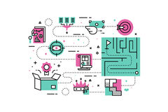 Business Solutions illustrations Stock Photos