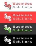 Business Solutions Logo Design Stock Photo