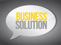Business solutions message illustration design Stock Photography