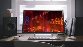 Business solutions on the monitor screen. Business concept. Analytic stock video footage