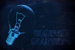 Business solutions: the need for brilliant ideas Stock Images