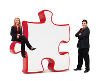 Business solutions puzzle board - Copyspace Stock Photos