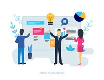Business solutions, system of increase performance, planning, analysis financial indicator. Business solutions, system of increase performance, strategic royalty free illustration