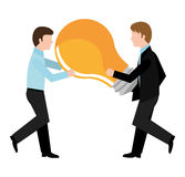 Business solutions and teamwork. Graphic design,  illustration Stock Photo
