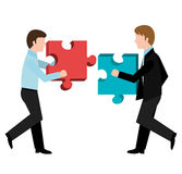 Business solutions and teamwork. Graphic design,  illustration Stock Image