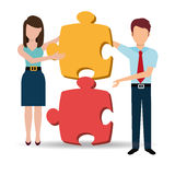 Business solutions and teamwork. Graphic design,  illustration Royalty Free Stock Photography
