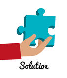 Business solutions and teamwork Stock Image