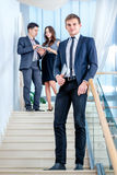 Business solutions.Young and successful businessman Royalty Free Stock Photos
