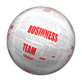 Business sphere. 3d sphere with typography, concept business Royalty Free Stock Photography