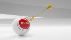 Business sphere. Goal. Golden arrow - dollar Royalty Free Stock Photo