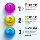 Business sphere infographic template with text Stock Photos