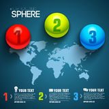 Business sphere infographic template with text Royalty Free Stock Images