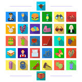 , business, sport, textiles and other web icon in flat style.fast food, fairy tale, icons in set collection. Stock Photo