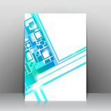 Business square background. Vector template Royalty Free Stock Images