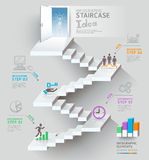 Business staircase thinking doorway conceptual. Royalty Free Stock Photos