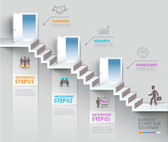 Business staircase thinking idea, Staircase doorway conceptual. Vector illustration. can be used for workflow layout, banner, diagram, number options Royalty Free Stock Photography