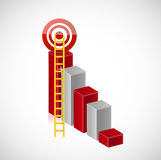 Business stairs target illustration design Stock Photo