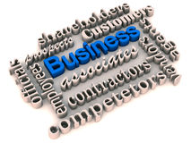 Business stake holders. Text group showing all stakeholders and interest holders in a business Stock Photography