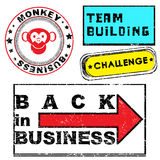 Business stamps series Royalty Free Stock Photos