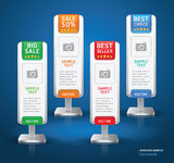 Business Stand Display Banner & Card Background. Stock Images